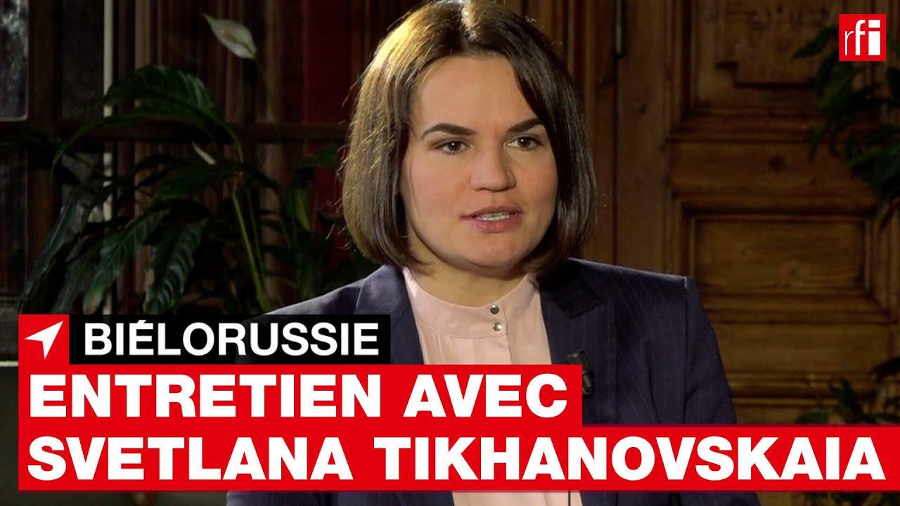 Svetlana Tikhanovskaïa: «On a sous-estimé la férocité de Loukachenko» • RFI