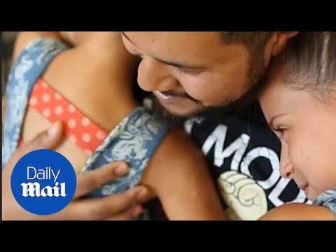Moment girl meets bone marrow donor who saved her life