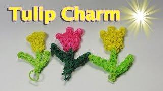 Rainbow Loom Charms: TULIP (Easy): How To Design (DIY Mommy)