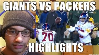 New York Giants VS Green Bay Packers 1.8.2017 HIGHLIGHTS- NFL Playoffs, Wild Card Weekend (REACTION)