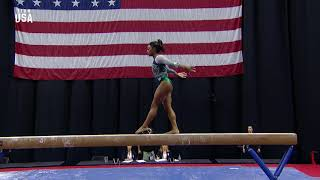 Simone Biles Debuts New Double Double Beam Dismount | Champions Series Presented By Xfinity