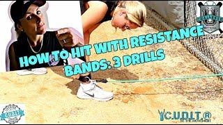 HOW TO HIT WITH RESISTANCE BANDS - THREE HITTING DRILLS FOR POWER