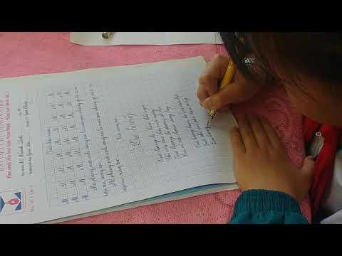 Cô trò lớp 4D với phong trào viết chữ đúng, chữ đẹp