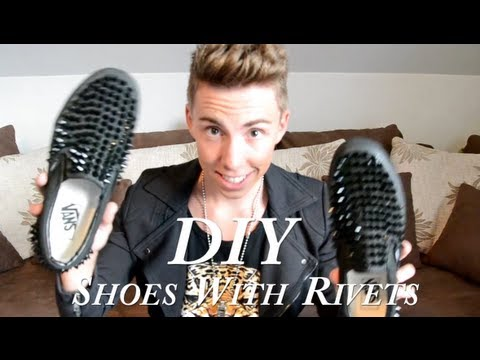 DIY Tutorial: Shoes With Rivets / Schuhe Mit Spitznieten