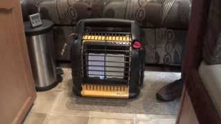 """RV Heating: five different ways including Mr. Heater Big Buddy heater and """"Candle"""" style heater 