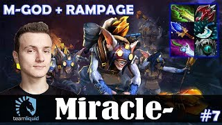 Miracle - Meepo MID | M-GOD + RAMPAGE | Dota 2 Pro MMR  Gameplay #7