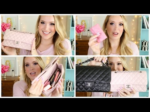 What's In My Bag?! Pink Chanel Medium Flap | JennyClaireFox