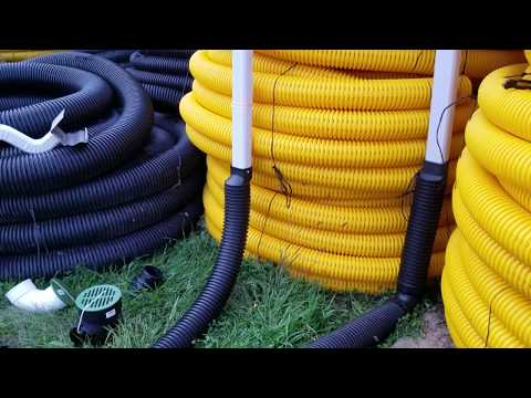Two Residential Underground Downspout Systems Used by The French Drain Man mp3 yukle - mp3.DINAMIK.az