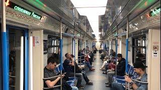 81-765/766/767«Москва» на Калужско-Рижской линии (14.05.2018)