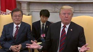 米朝首脳会談の延期示唆トランプ氏