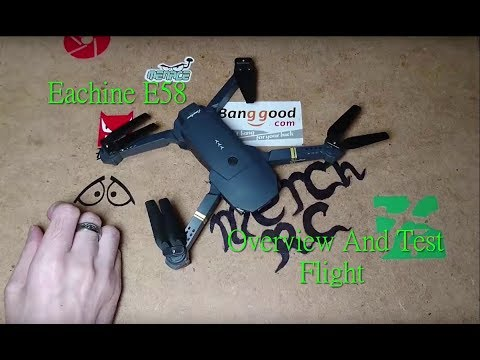 Eachine E58 720P Wifi FPV Quadcopter Overview And Test Flight