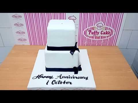 Black & White Wedding Cakes, Fondant Design Howto & Style