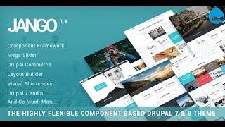 Drupal шаблон Jango. Многоцелевая тема Drupal 7&8. Обзор и скачать бесплатно