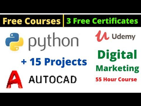 Udemy Free Certificate Courses Python + 15 Projects Digital ...