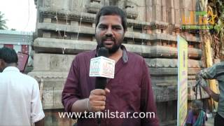 Cinemotographer Thiyagu at Kalavu Thozhichalai Shooting Spot