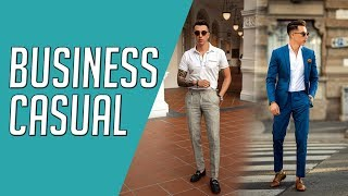 How To Wear Business Casual || 4 Looks || Gents Lounge 2019