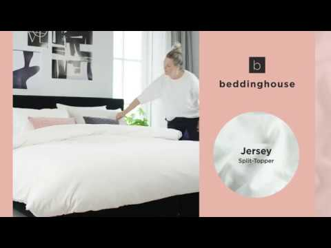 Beddinghouse Jersey-Split-Topper Spannbettlaken