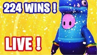 🔴 HELLO ! GO TOP 1 SUR FALL GUYS EN DUO !  ✌ I 225 WINS 🏆 / LVL MAX ✅ (En direct)