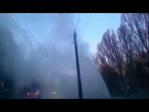 Улицу Стара-Загора заливает коммунальный фонтан
