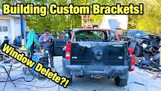 Building Custom Brackets For The Roll Cage On The First Soft Top Hummer H3