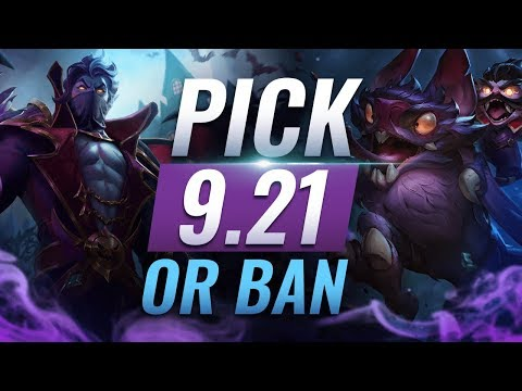 OP Pick or Ban: BEST BUILDS For EVERY Role - League of Legends Patch 9.21