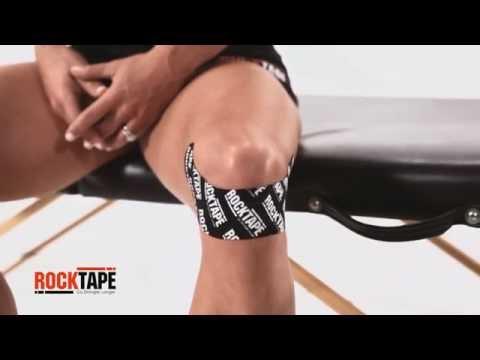 RockTape - Тейпирование колена одной полоской