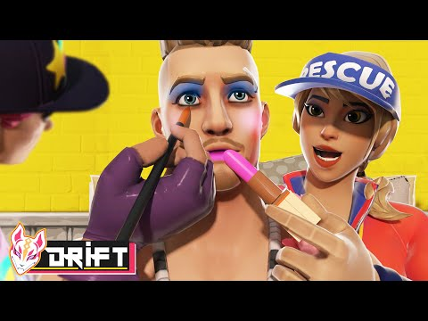 DRIFT HAS TO DRESS UP AS A GIRL & WEAR MAKE UP - Fortnite Short Films