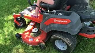 My Husqvarna Z254 zero turn mower at 200 hrs.