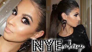 New Years Eve Makeup & Hair Tutorial | Sparkle Bombshell