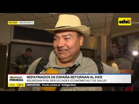 Repatriados de España retornan al país