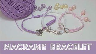 Yarn Macrame Bracelet