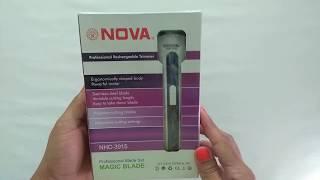 Maquina Aparador Barba Cabelo Pelos Nova Nhc-3915 Recarregável