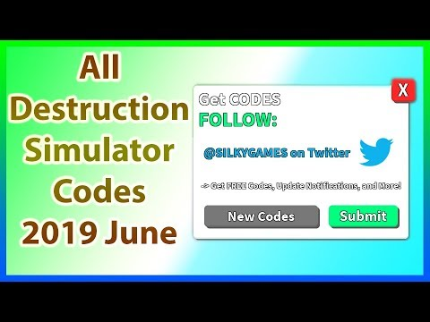 Codes For Roblox Destruction Simulator 2018