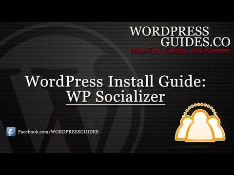 How to install the WP Socializer WordPress Plugin