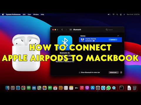 How To Connect Apple AirPods to MacBook - [romshillzz]