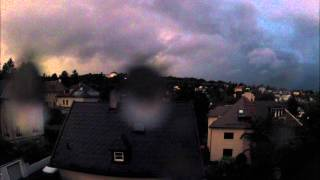 preview picture of video 'Thunderstorm rolling over Vienna (Timelapse)'
