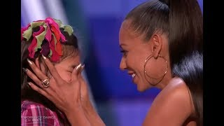 """Adorable Little Girl Gets a Kiss From MEL B :) """"I am Awesome"""" LOL!"""