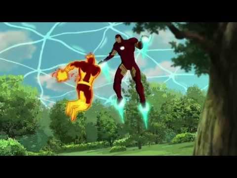 Ultimate Spider Man Web Warriors - Spider-Man vs Wendigo, Hulk vs Kraven, Iron Man vs Molten Man