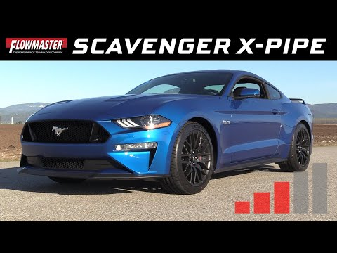 2018-19 Ford Mustang GT 5.0L, Scavenger Series X-Pipe - Resonator Delete 817817