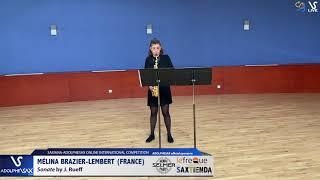 Mélina BRAZIER LEMBERT plays Sonata by J. Rueff #adolphesax