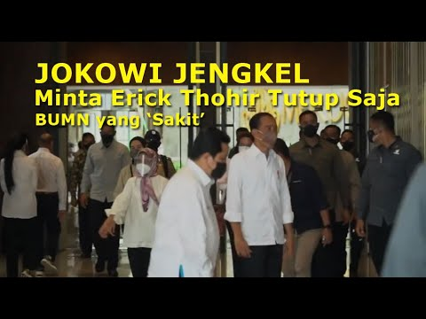 Jokowi Jengkel, Minta Erick Thohir Tutup Saja BUMN yang `Sakit`