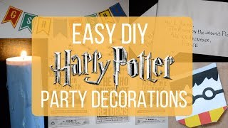 DIY HARRY POTTER PARTY DECORATIONS