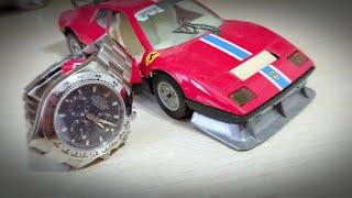 Real rolex daytona blue dial ferrari 512 BB rare watch automatic!
