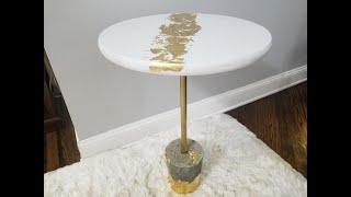 Concrete Base Accent Table