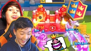 THE ULTIMATE COMBO DECK  2v2 CLAN BATTLES w/ Dimi - Clash Roy...