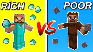 ZENGİN VE FAKİR HAYATI - Tam Film (Minecraft Animasyon)