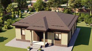 Проект дома 097-C, Площадь дома: 97 м2, Размер дома:  10,9x11,1 м
