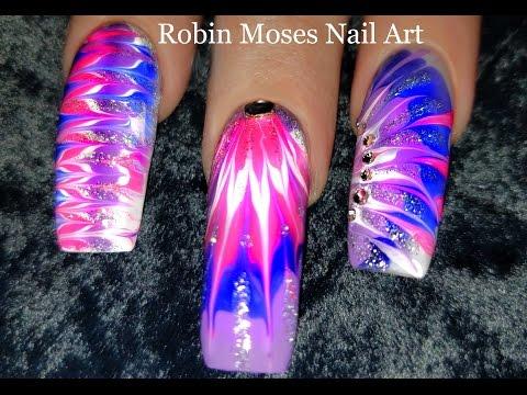 No Water Needed - Lavender Diva DIY Drag Marble nail art Tutorial