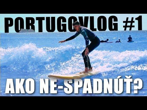 Ako ne-spadnúť zo surfu? │ PORTUGOVLOG #1