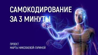 Сеанс САМОКОДИРОВАНИЕ ЗА 3 МИНУТЫ   Марта Николаева-Гарина